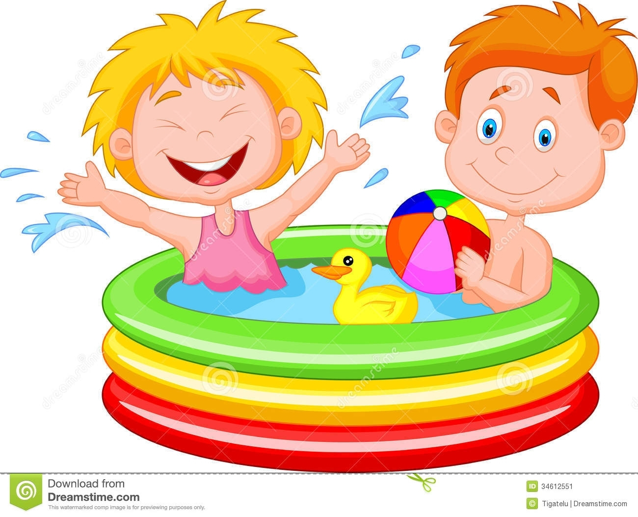 water play clipart.