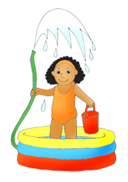 Water Play Day Clipart.