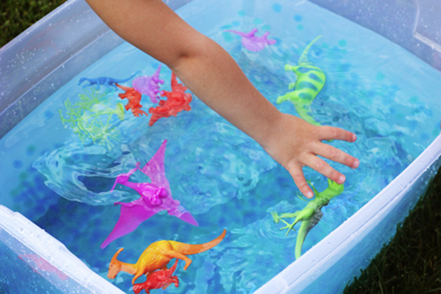 Water play sensory clipart.