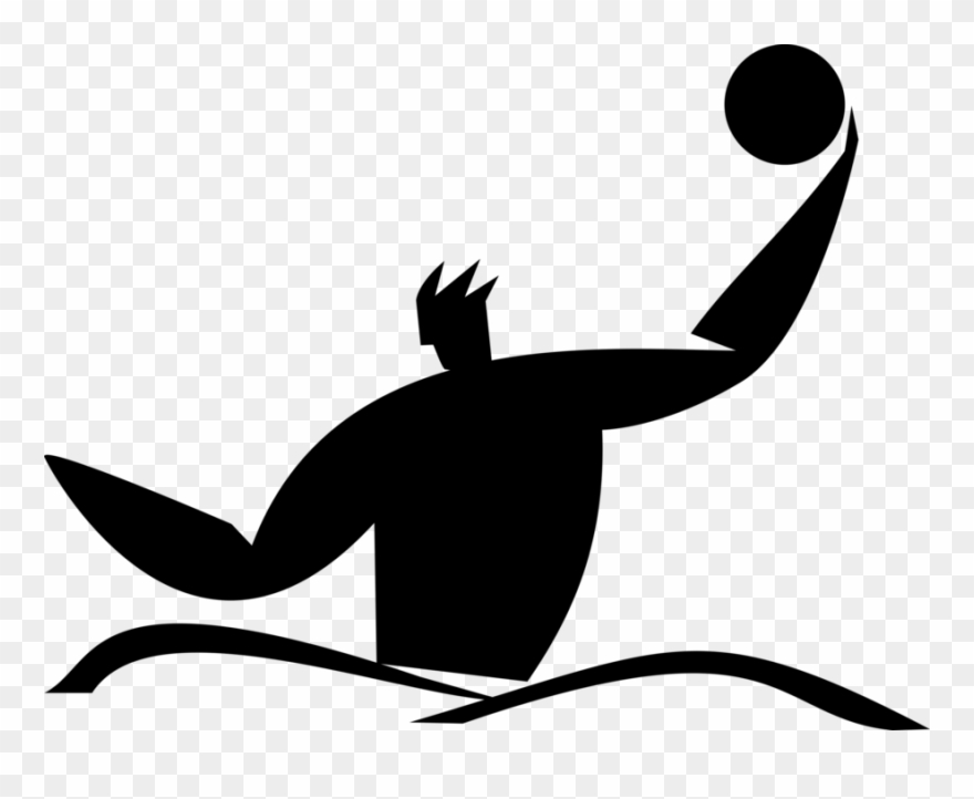 Vector Illustration Of Water Polo Team Water Sport Clipart.