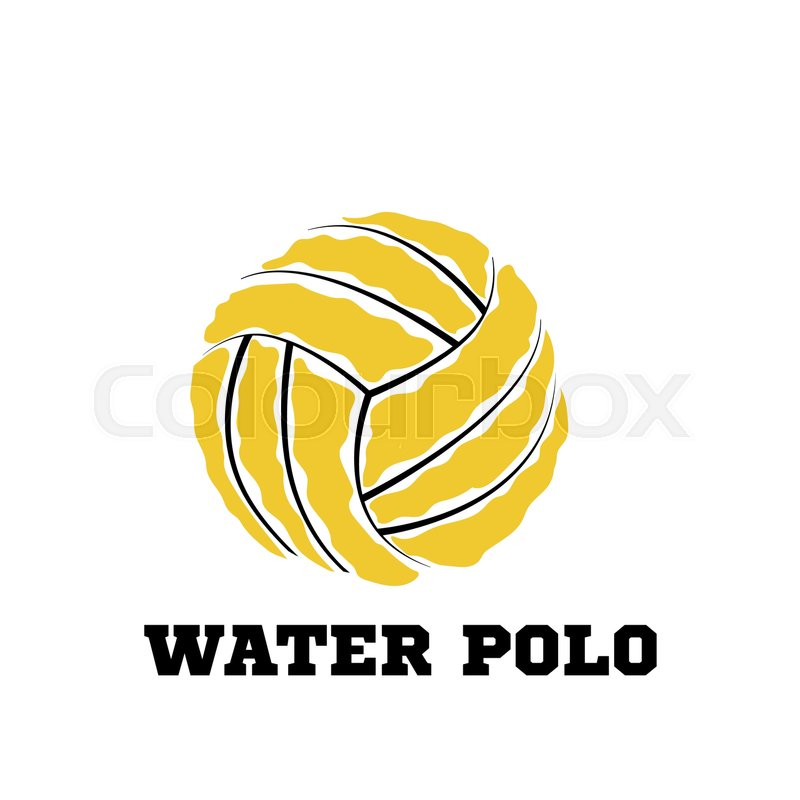 Water polo ball logo for the team and.