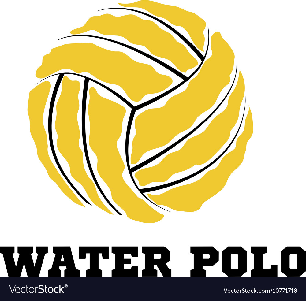 Water polo ball logo for the team and the cup.