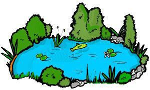Water pond clipart.