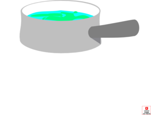 Pot Of Boiling Water Clipart.