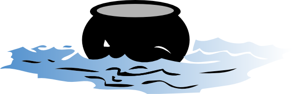 Pot of water clipart.