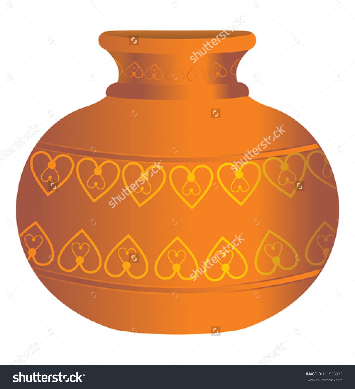 Water pot clipart.