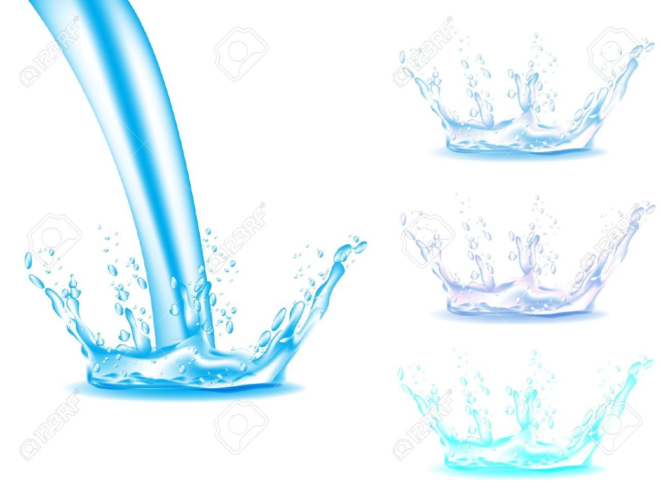 Pouring Water Clipart.