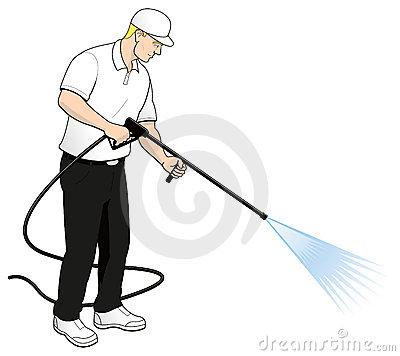 Pressure washing clip art.