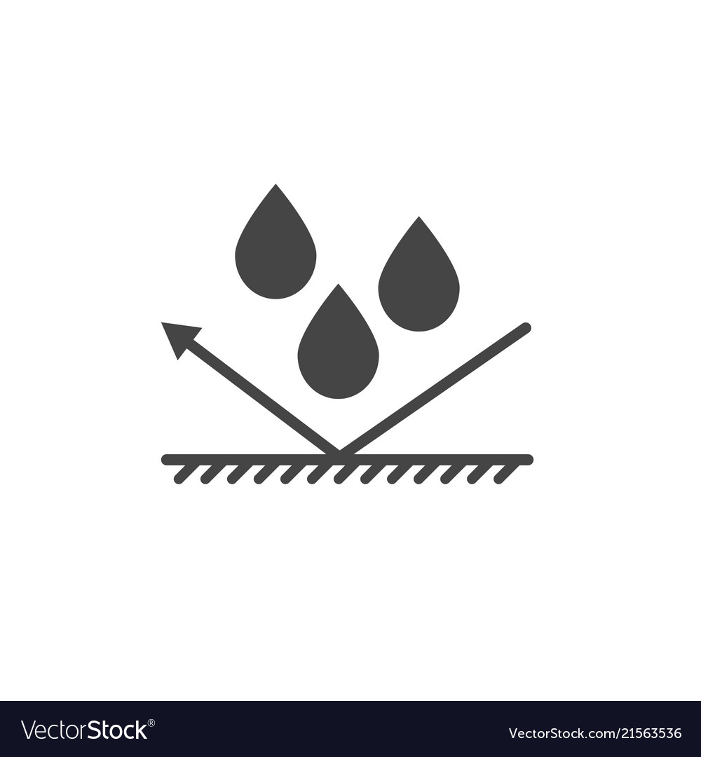 Waterproof protection icon.