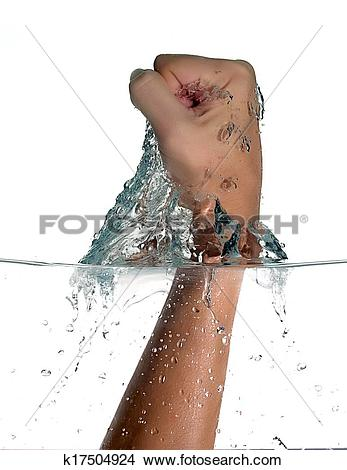 Stock Photo of Punch Trespassing Water. Hitting the water.