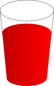 Drinking Glass, With Red Punch Clip Art at Clker.com.