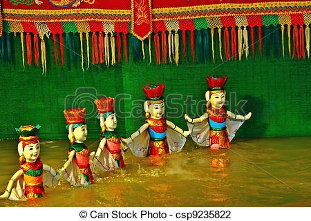 Stock Photo of Water puppet show in vietnam csp9235822.