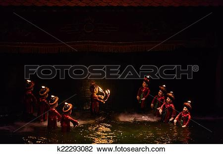 Stock Photo of Water puppet show in Hanoi, Vietnam k22293082.