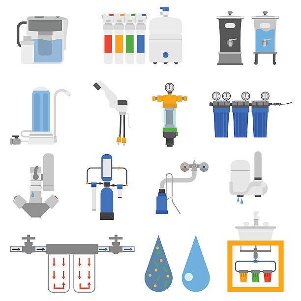 Water Purification Plant Clip Art, Vector Images & Illustrations.