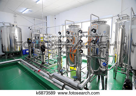 Stock Photograph of Water purification equipment k6873589.