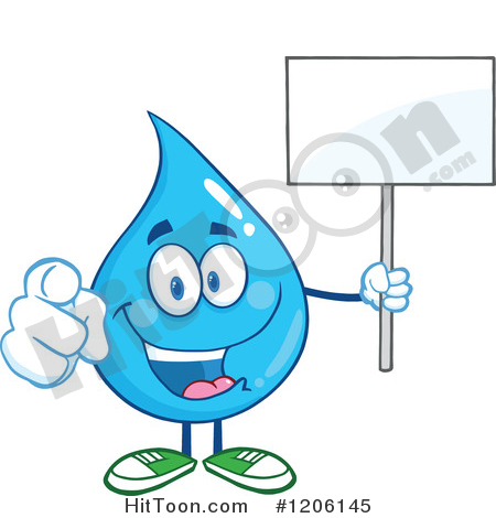 Blue Water Drop Clipart #1.