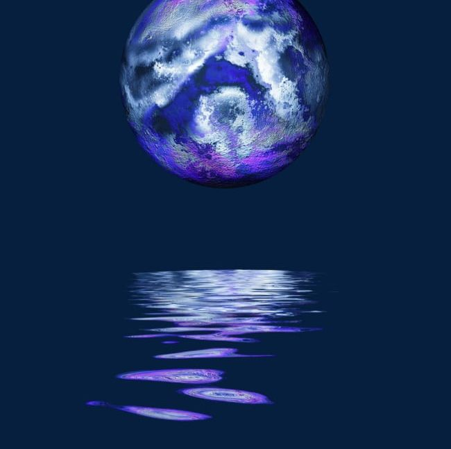 Blue Planet Water Reflection PNG, Clipart, Blue, Blue.