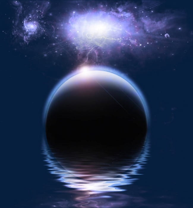 Purple moonlight water reflection PNG clipart.