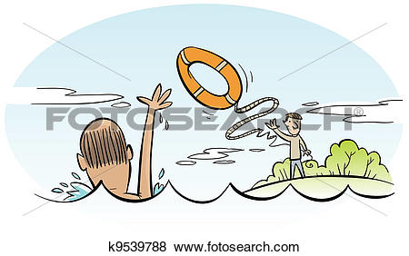 Stock Illustration of Water Rescue k9539788.