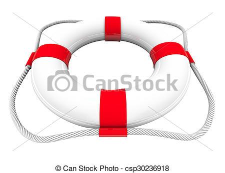 Clipart of Life Preserver Water Rescue Saver SOS Coast Guard 3d.