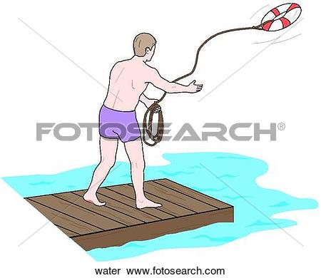 Stock Illustration of Water Rescue water.