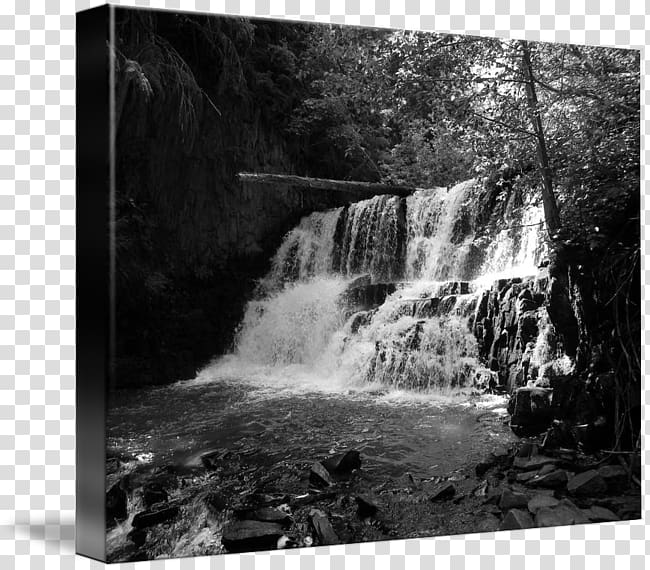 Gallery wrap Waterfall Water resources Nature story, Middle.