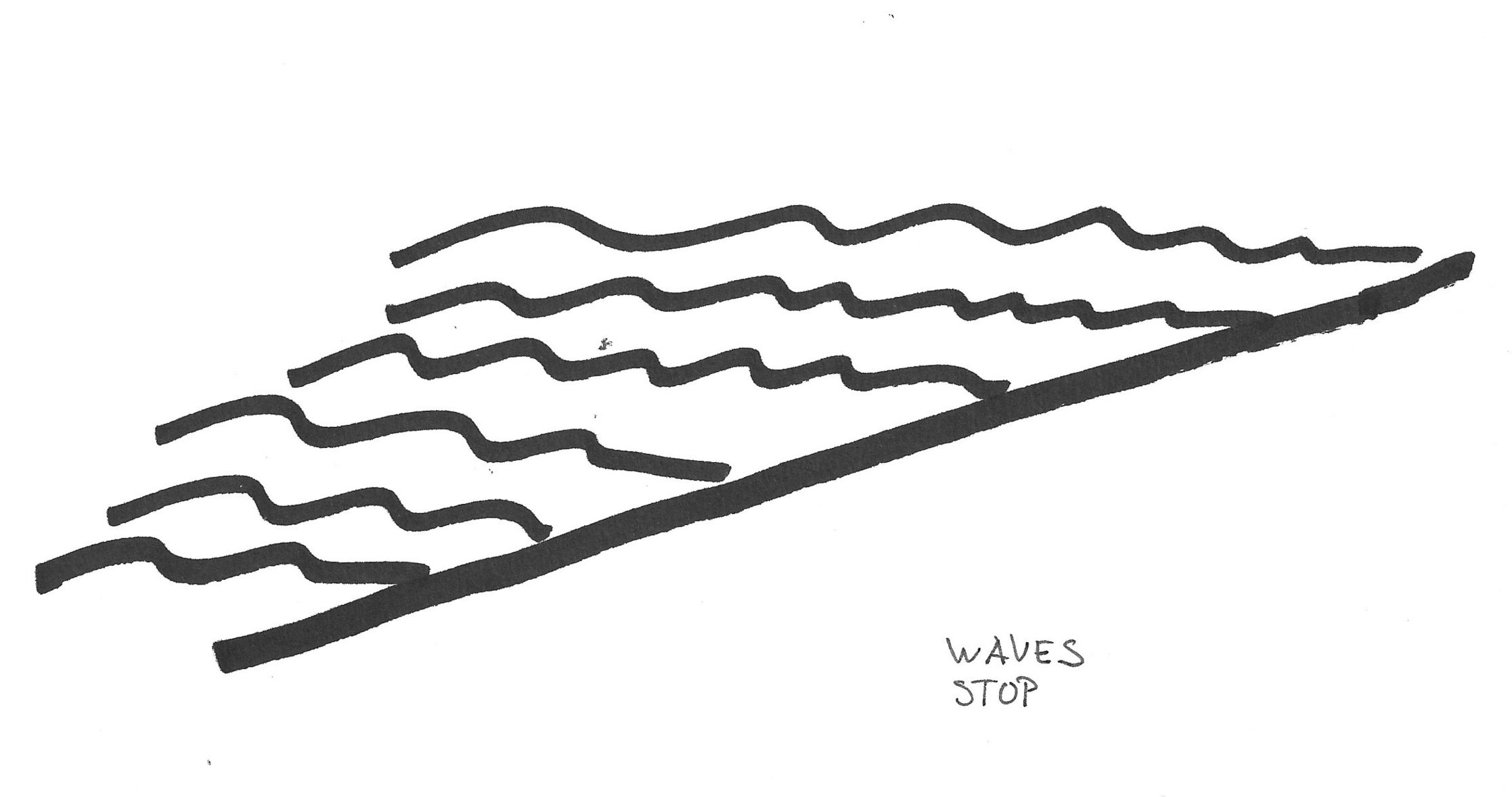Wave Line Drawing.