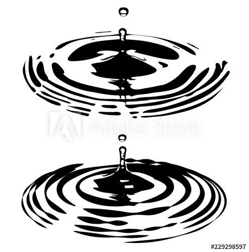 Water Ripples and Droplets.