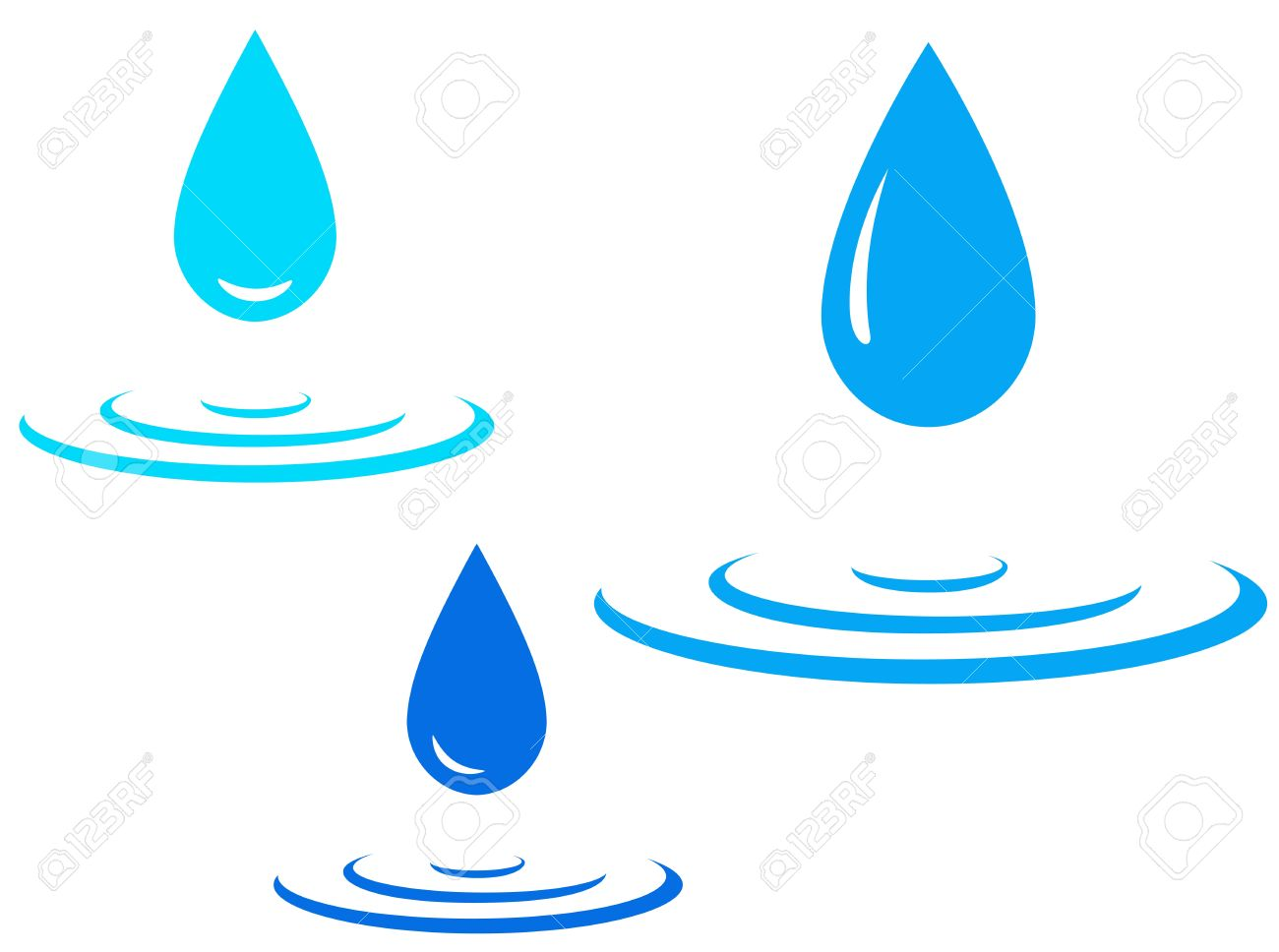 Drop Of Water Falling Clipart.
