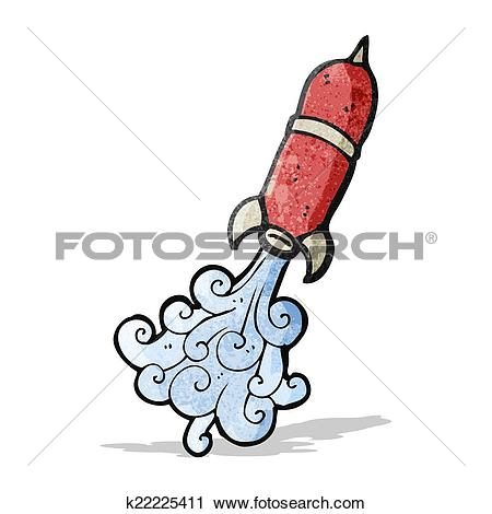 Clipart of water rocket cartoon k22225411.