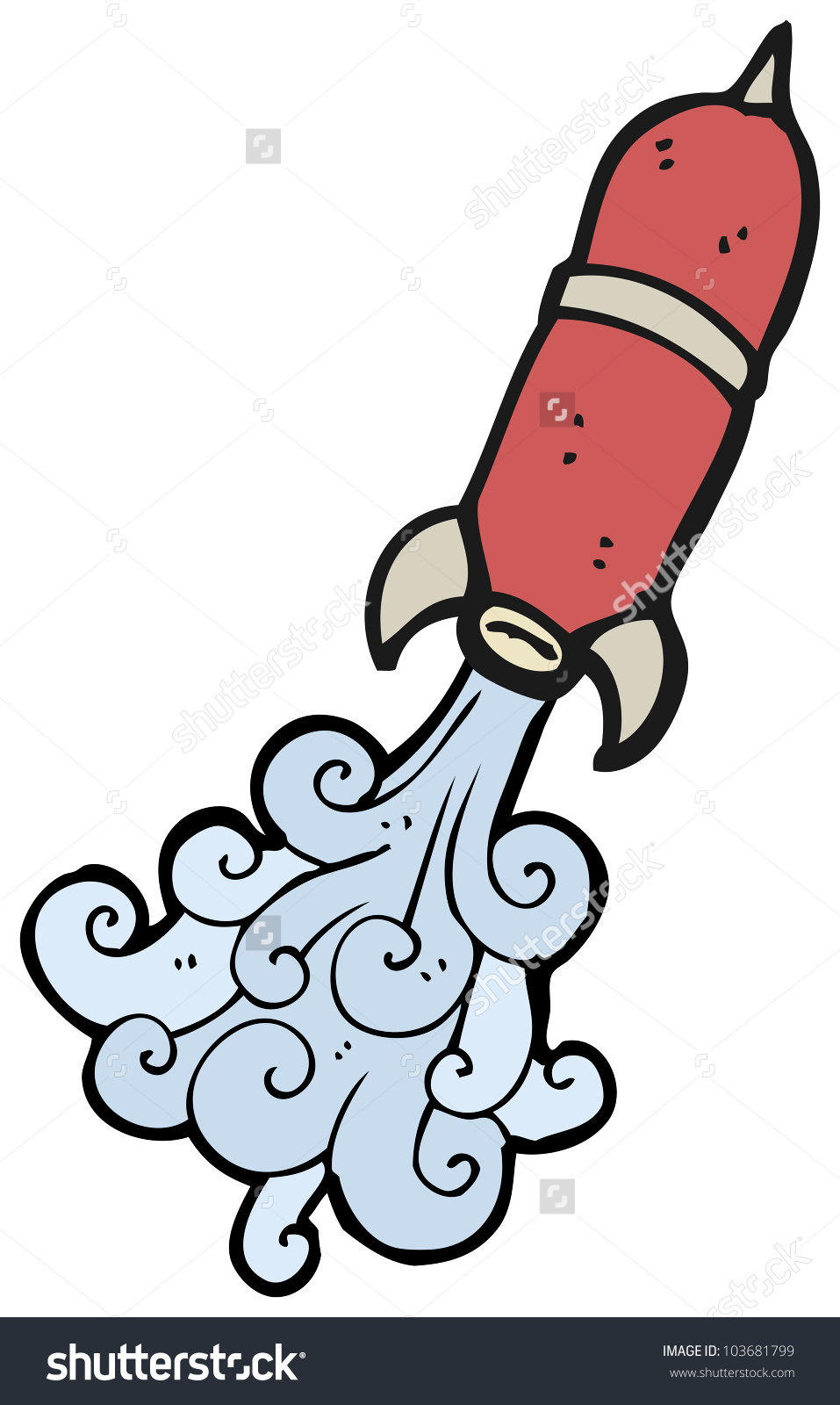 Cartoon Water Rocket Stock Illustration 103681799.