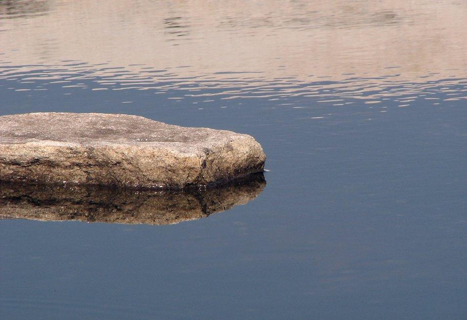 The Rock in Water Clip Art.