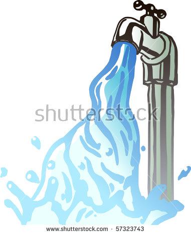 Running Water Faucet Stock Vector 57323743.