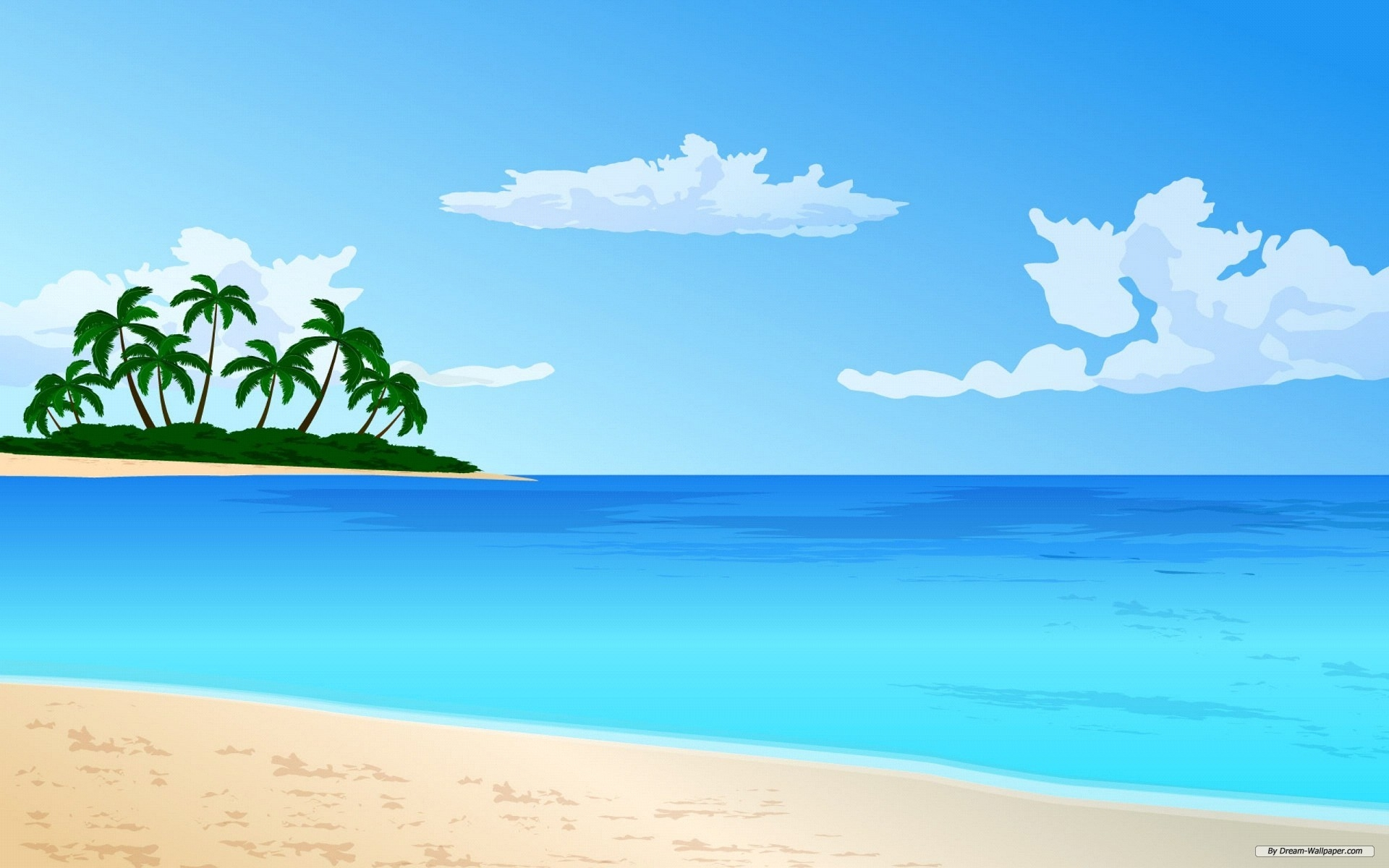 Beach Scene Clipart.