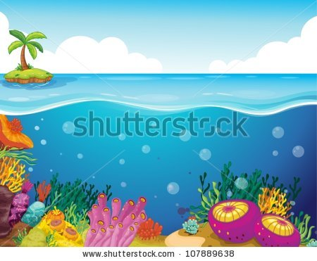 Underwater Scene Stock Images, Royalty.