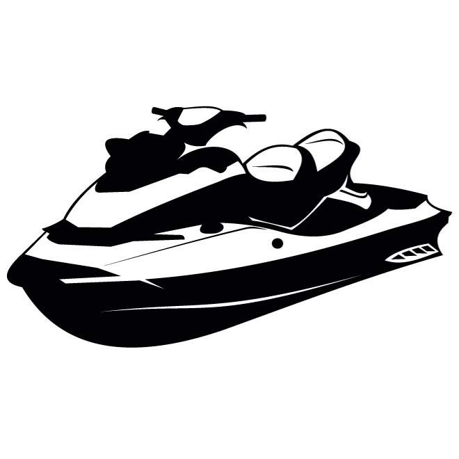 WATER SCOOTER VECTOR ILLUSTRATION.