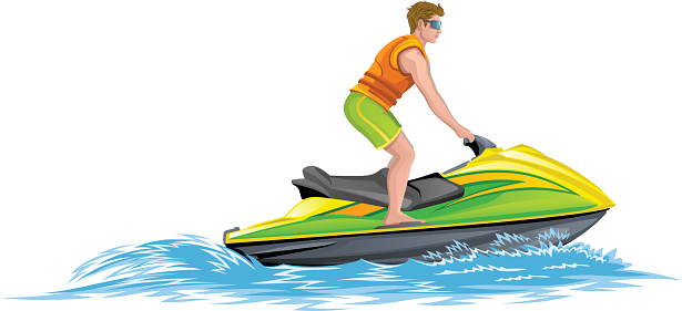 Water scooter clipart #12