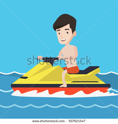 Water scooter clipart #17