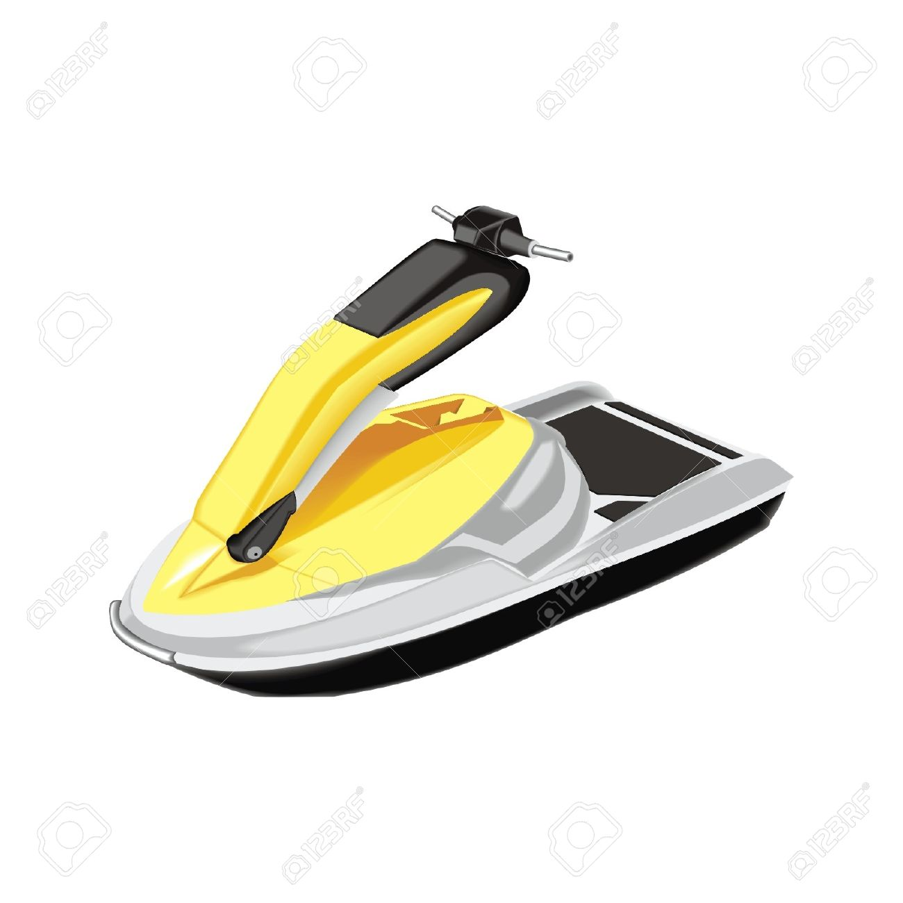 Water Scooter Royalty Free Cliparts, Vectors, And Stock.