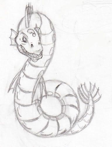 sea serpent drawing.