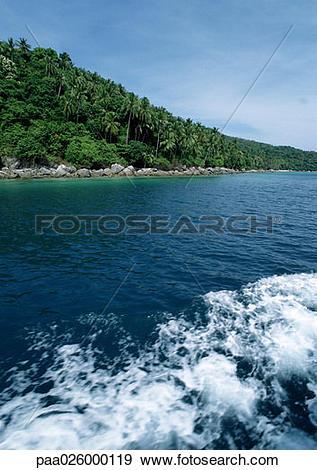 Stock Photograph of Malaysia, Perhentian Besar Island, wake on.