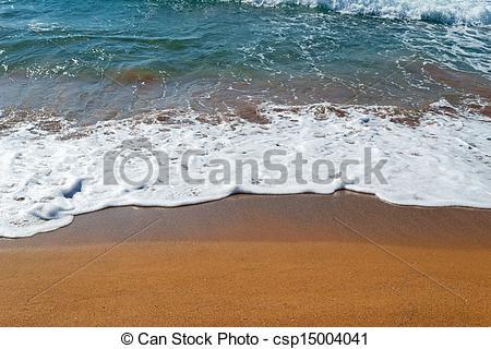 Stock Photo of golden shoreline.