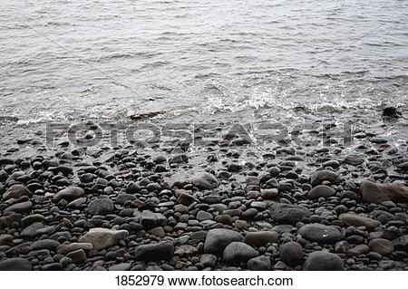 Shore line with water clipart.