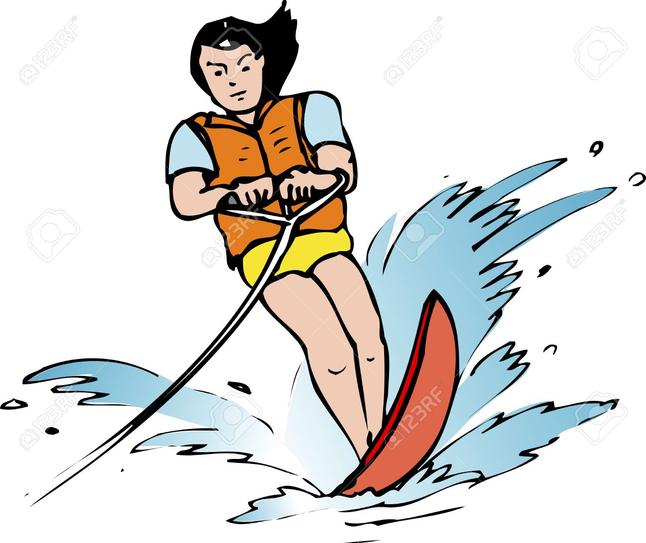 Water skiing clipart 5 » Clipart Station.