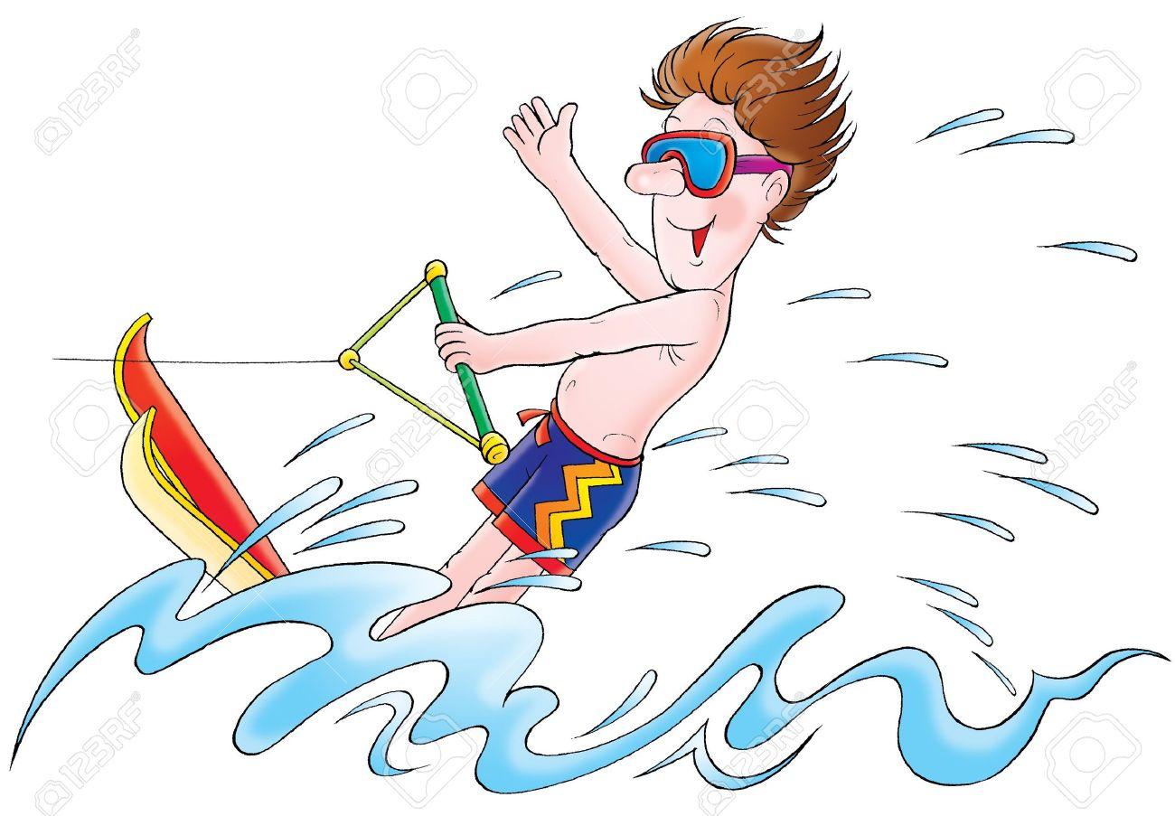 Slalom Water Ski Clip Art.
