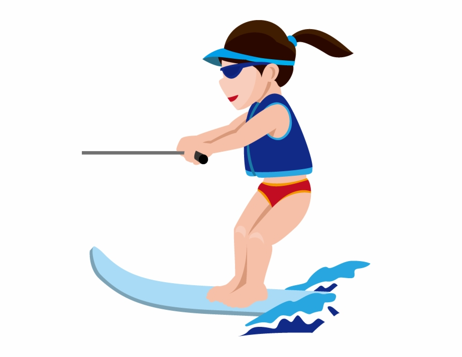 Water Skiing Sport Clip Art.