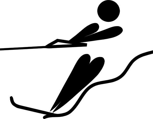 Olympic Sports Water Skiing Pictogram clip art (111190) Free.
