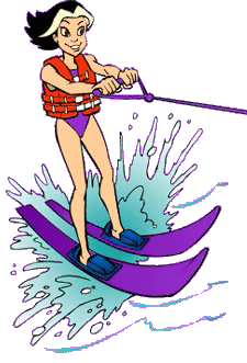 Water skiing clipart.