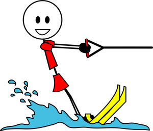 Water ski clip art.