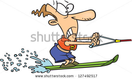 Water Skiing Arkivvektorer, bilder og vektorkunst.